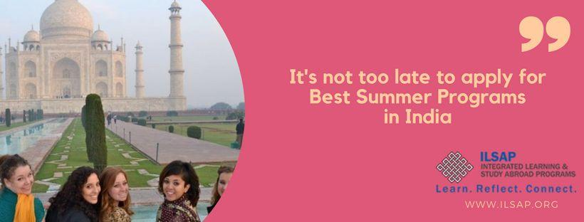 5 best summer study programs in India